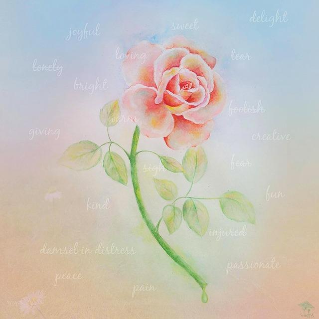 malovaná růže
