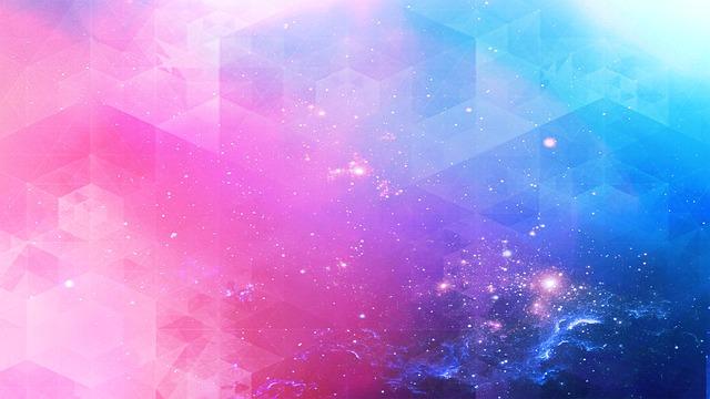 růžová a modrá