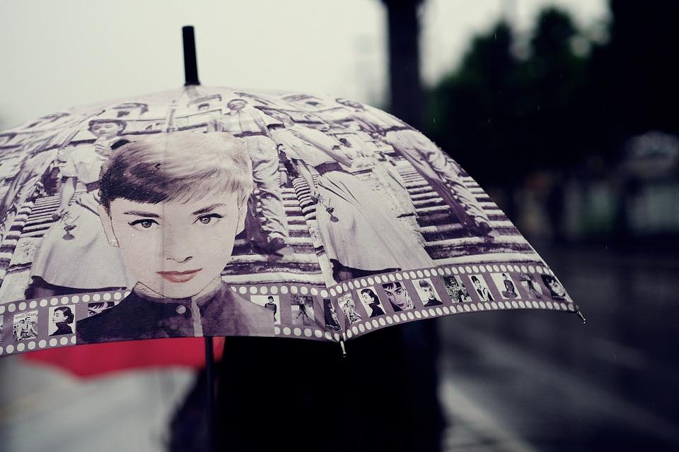 potisk na deštníku